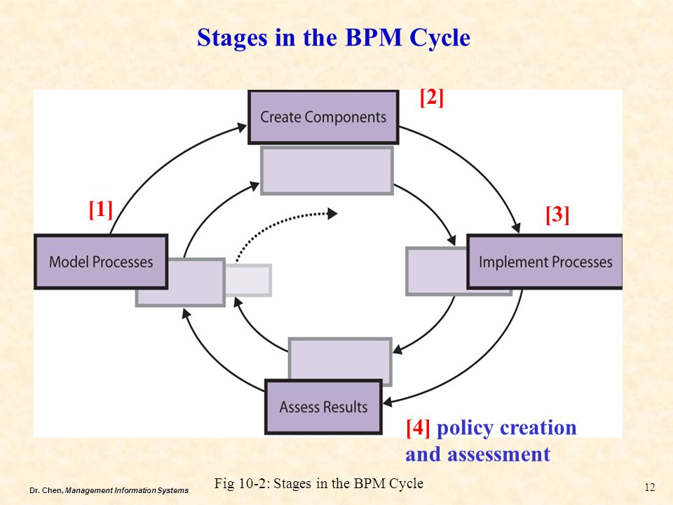 Stages in the BPM Cycle [2] [1] [3] [4] policy creation and assessment